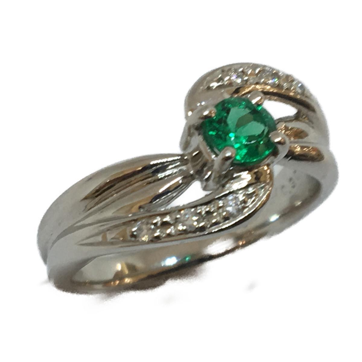 JEWELRY 貴金属・宝石  ジュエリー エメラルド ダイヤモンド リング 指輪 11号