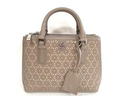 TORY BURCH(トリーバーチ ROBINSON FLORAL PERFORATED 2wayショルダーバッグ